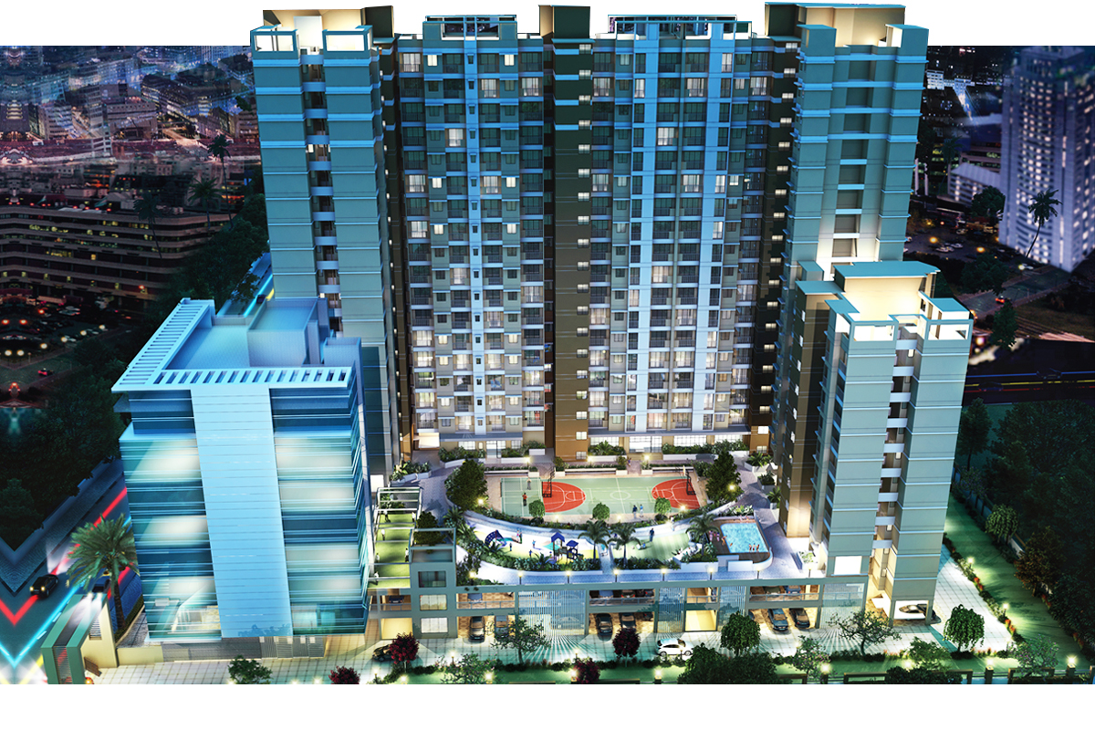 2 BHK flats for sale in Wagle Estate, Thane West | Ashar 16